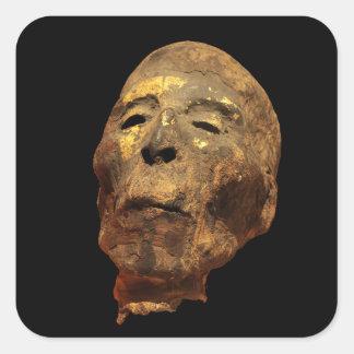 Mummified Human Male Head Mummy Square Sticker