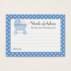 Mummy Advice Card Baby Shower Carriage | Pink