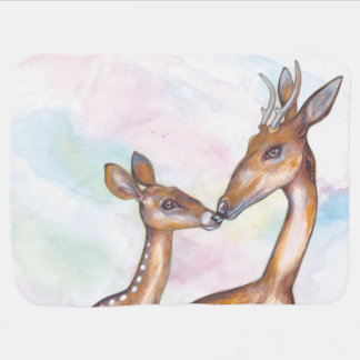 Mummy and Baby Deer Baby Blanket