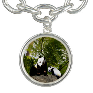 Mummy And Baby Panda, Charm Bracelet