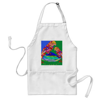 Mummy and baby Parrot - Birds of paradise Standard Apron