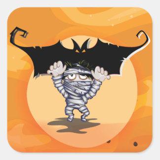 Mummy and Bat Stickers