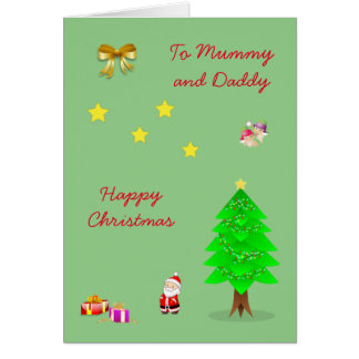 Mummy and Daddy Christmas Card