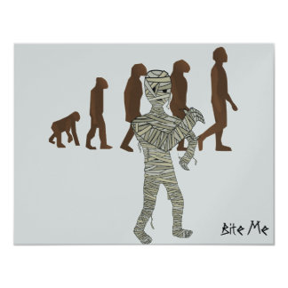 Mummy and Evolution Guys, Customize Me! 11 Cm X 14 Cm Invitation Card