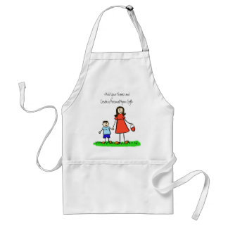 Mummy and Me Apron (Brunette -Customised Names)