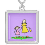 Mummy and Me (Brunette) Necklace Charm