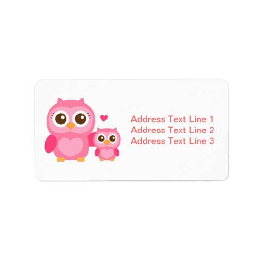 Mummy and Me, Cute Baby Owl, Pink Label
