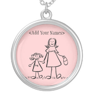 Mummy and Me Necklace Charm (Customise Names)