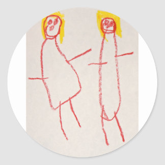 Mummy and Me Round Sticker