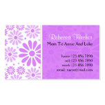 Mummy  Business Cards - Lavender Flowers