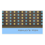 Mummy Calling Card Brown Modern Polka Dots Pack Of Standard Business Cards