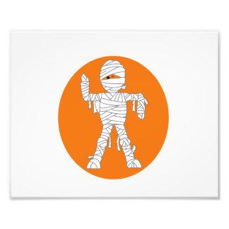 Mummy cartoon orange behind.png photo