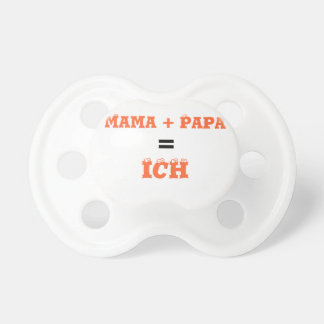 Mummy + Dad = I Baby Pacifiers