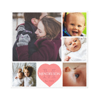 Mummy daddy and kids canvas print