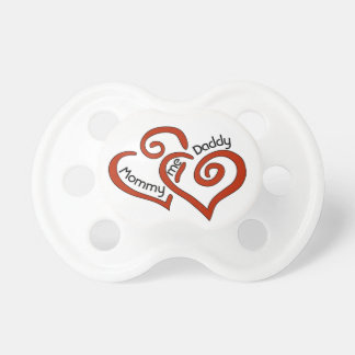 Mummy, Daddy, and Me Valentine Heart Pacifier