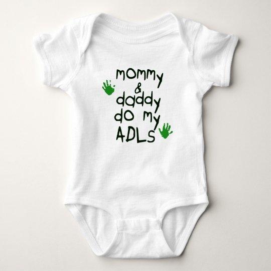 Mummy & Daddy do my ADLs green handprint