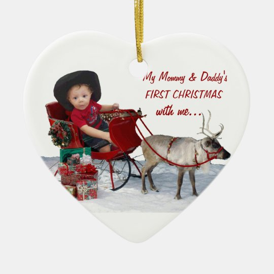 Mummy & Daddy's First Christmas with me.. Ornament