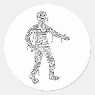 Mummy Design #1 Round Stickers