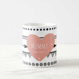 'Mummy Est.2017' Custom White Mug