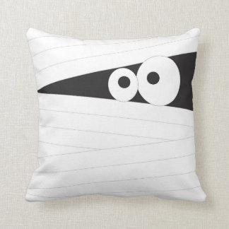 mummy halloween throw pillow, accent room decor cushion