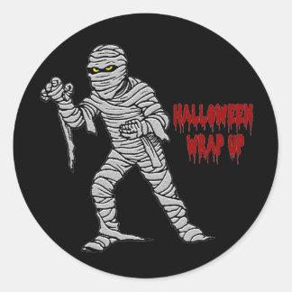 Mummy Halloween Wrap Up Sticker