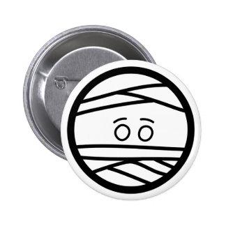 mummy head 6 cm round badge