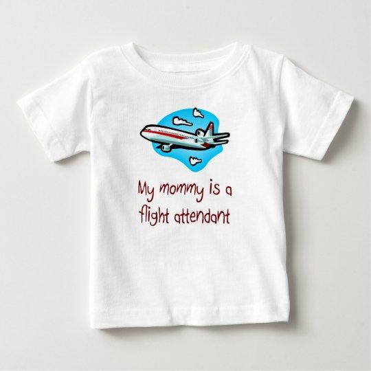 Mummy is a Flight Attendant baby t-shirt