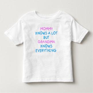 Mummy knows a lot but Grandma know everything Tshirts