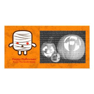 Mummy marshmallow personalized photo card