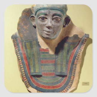Mummy mask, from Mirgissa (stuccoed and painted pl Square Sticker