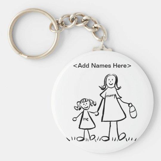 Mummy & Me Keychain (Customise Names Option)