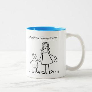 Mummy & Me - Mother & Little Boy Custom Mugs