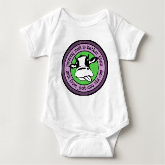 Mummy milk better than milk from just any old cow baby bodysuit