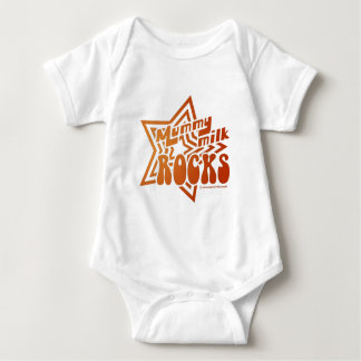 Mummy Milk Rocks Baby Bodysuit