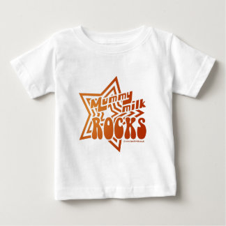 Mummy Milk Rocks Baby T-Shirt