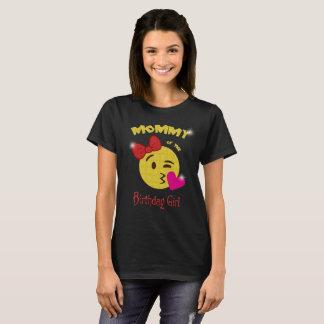 Mummy of the Birthday Girl Emoji Birthday Party T-Shirt