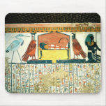Mummy on a funeral bed with various divinities mousepad