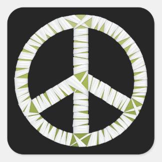 Mummy Peace Sign Square Sticker