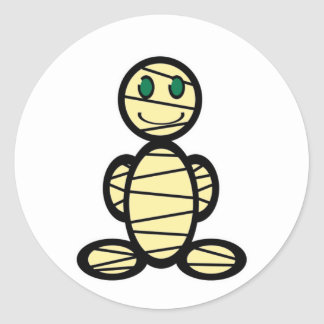 Mummy (plain) classic round sticker