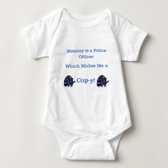 Mummy Police Office Cop-y Shirt! Baby Bodysuit