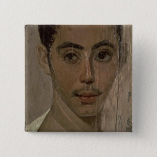 Mummy Portrait of a Boy with an Injured Eye, from 15 Cm Square Badge