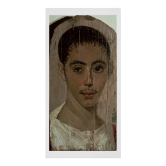 Mummy Portrait of a Boy with an Injured Eye, from Poster