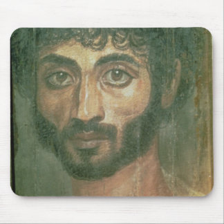 Mummy Portrait of a Man, from Fayum, Romano-Egypti Mouse Pad