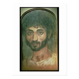 Mummy Portrait of a Man, from Fayum, Romano-Egypti Postcard