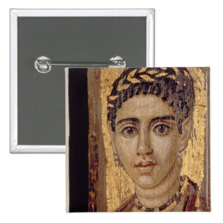 Mummy Portrait of a Woman, from Fayum, Romano-Egyp 15 Cm Square Badge