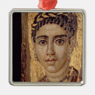 Mummy Portrait of a Woman, from Fayum, Romano-Egyp Christmas Ornament