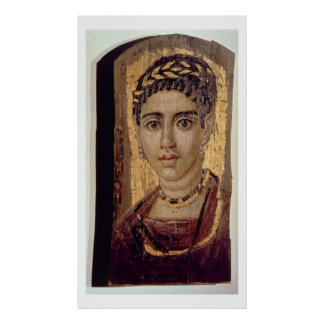 Mummy Portrait of a Woman, from Fayum, Romano-Egyp Poster