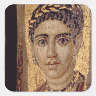 Mummy Portrait of a Woman, from Fayum, Romano-Egyp Sticker