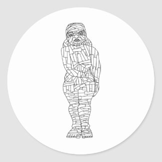 Mummy Round Sticker