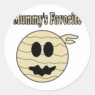 Mummy s Favorite Round Sticker
